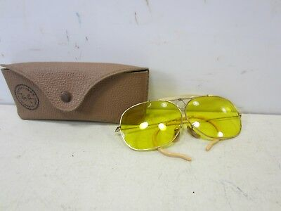 Vintage Ray Ban Altered Lens Aviator Sunglasses with Case