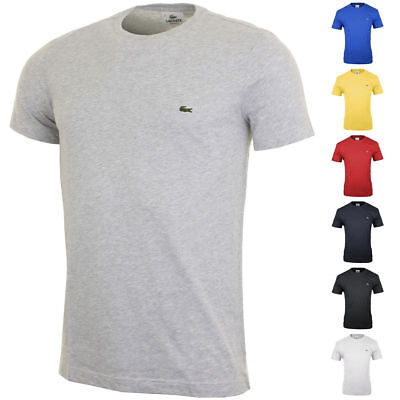 Lacoste Mens Crew Neck Short Sleeve T-Shirt Original With Tag S M L XL XXL