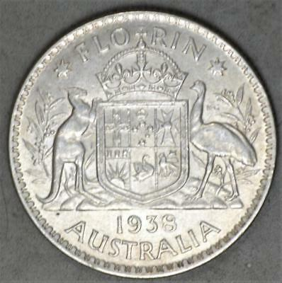 Australia 1938 Florin Sterling Silver Coin