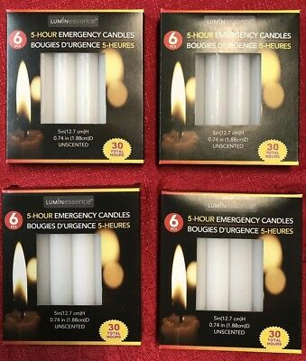 4 Packs Of Luminessence Emergency Candles, 24 Total Candles - 5 Hour Burn Each