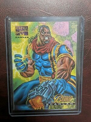 1995 Marvel Masterpieces Comic Chase Canvas Limited Edition Card # 3 Bishop