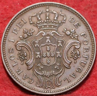 1901 Portugal Azores 10 Reis Foreign Coin