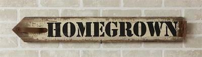 New Shabby Farmhouse Chic Vintage HOMEGROWN Rustic Wood Plaque Sign 33""