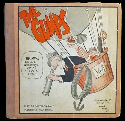 THE GUMPS #1 By Sidney Smith 1924 Cupples & Leon Platinum Age Hot Air Balloon