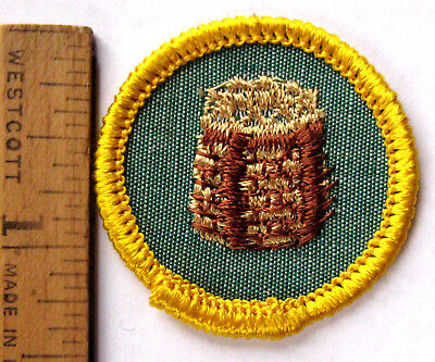 Girl Scout 1963-1980 Cadette CAMPCRAFT BADGE Basket Weaving Patch CHOOSE YEAR