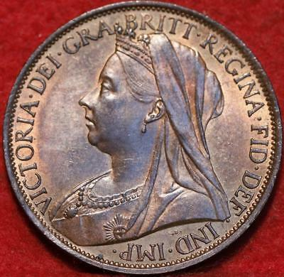 Uncirculated 1900 Great Britain 1 Penny Foreign Coin