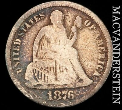 1876 Seated Liberty Dime - Scarce!!  Better Date!!  #d9398