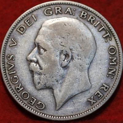 1929 Great Britain 1/2 Crown Silver Foreign Coin