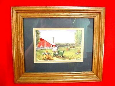 John Deere Pedal Tractor Print - When I Grow Up - Terry Downs - Framed