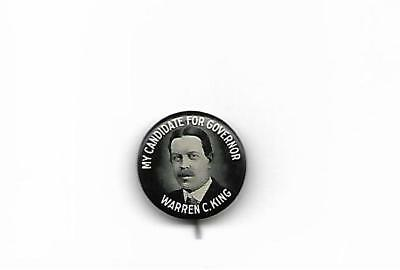 Tough 1920 Warren King For New Jersey Governor Pin