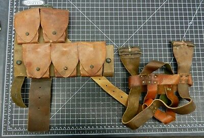 WW1 Australia. p1915 equipment, Ammo pouch and canteen carrier.