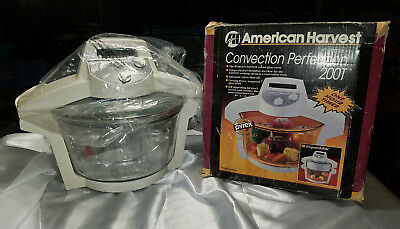 New Open Box American Harvest Convection Perfection Co-200T Oven W/ Pyrex Bowl