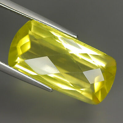 Sporty 11.46 Ct Natural Yellow Lemon Quartz Octagon Gem @ See Video !!!!!!