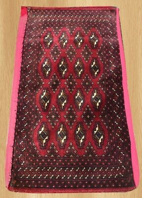 Authentic Hand Knotted Afghan Turkmon Cushion Cover Rug 3 x 2 (5829)