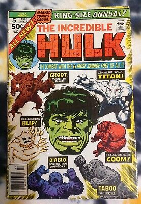 INCREDIBLE HULK King Size Annual #5 (1976) *2nd appearance GROOT - Marvel Comics