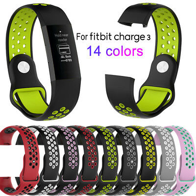 Soft Silicone Replacement Spare Sport Band Bracelet Strap for Fitbit Charge 3 UK