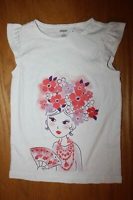 NWT Gymboree Cherry Blossom size 5 Girl with Flower Hair Shirt Top