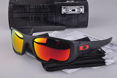 Polarized Crankshaft Sunglasses Matte Black/Fire Iridium