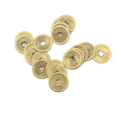 20pcs Feng Shui Coins 2.3cm Lucky Chinese Fortune Coin I Ching Money Alloy HU