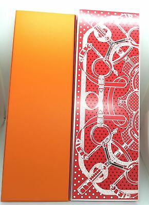 """Authentic Hermes Empty BOX Tie box(14.9""""x 4.9""""x0.8) Christmas limited version"""