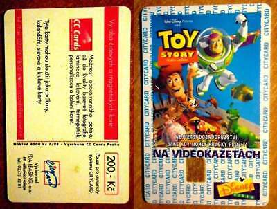 REP. TCHEQUE - DISNEY TOY STORY - CITY CARD - 7/98 - TIR. : 4 000 ex