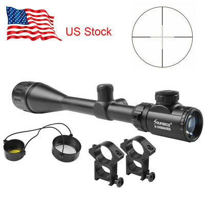 US 6-24X50AOEG Red/Green Mil-dot Reticle Optics Rifle Scope Sight with Mounts