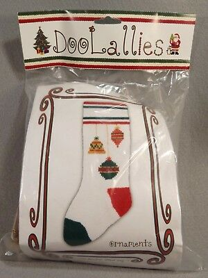 DooLallies Knitted Christmas Stocking Kit Knitting Embellished Ornament 21 inch