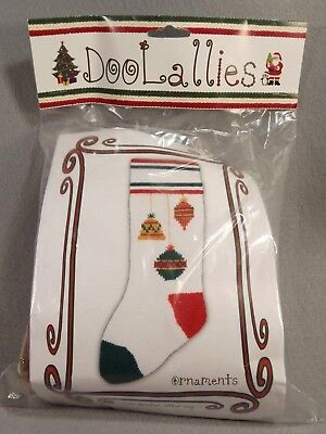 DooLallies Knitted Stocking Kit Knitting Embellished 21 inches Ornament Pattern
