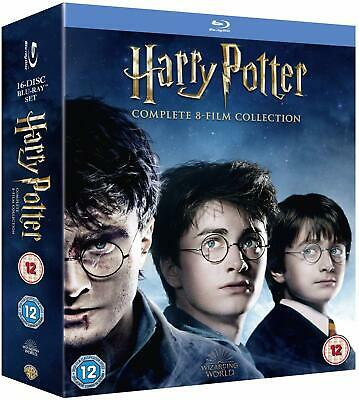 Harry Potter Complete 8 Film Collection Blu Ray Boxset 16 Disc Region Free