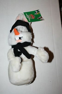 Warner Brothers Store Bugs Bunny in SNOWMAN Bean Bag Plush New Free Shipping