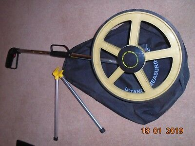 Distance Measuring Wheel with Stand Foldable in Bag Unused and fully working