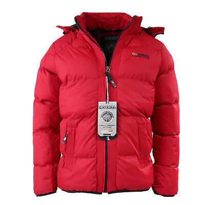 Geographical Norway Herren Jacke Funktionsjacke Sehr Warm Winter Cozy Red  XXL a8ab64a1e0