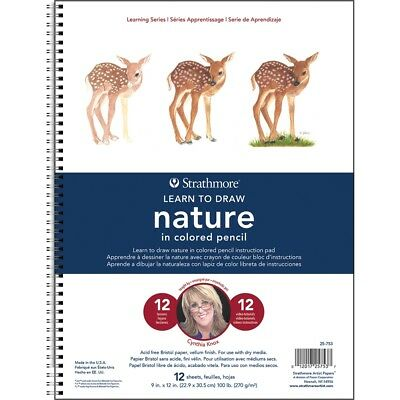 Strathmore Learning Series - Nature In Colored Pencil-12 Sheets