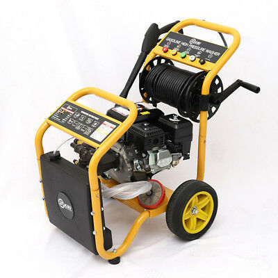 Petrol Pressure Washer Mobile Gas High Power Jet Cleaner with Gun 20M Hose Foam