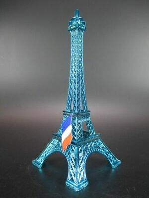 Paris Eiffel Tower Metal 18 cm Blue, Souvenir France Frankreich, Eiffel Tower