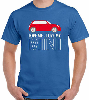 Love Me Love My Mini - Mens T-Shirt Clubman Roadster Cooper John Works Design 1