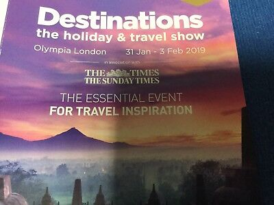 Destinations Holiday Show Tickets 2 Adults