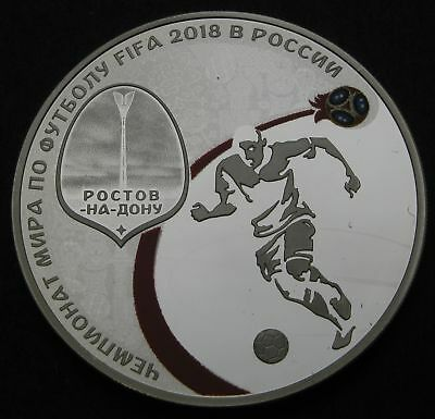 RUSSIA 3 Roubles 2018 Proof - Silver - FIFA World Cup - 1694