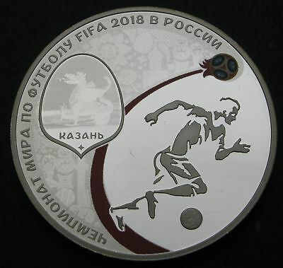 RUSSIA 3 Roubles 2018 Proof - Silver - FIFA World Cup - 1696