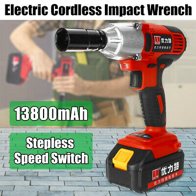 1/2'' Electric Impact Wrench Gun Torque Tool High Torque Stepless Speed Switch