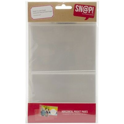 "Sn@p! Pocket Pages For 4""x6"" Binders 10/pkg-(2) 3""x4"" Horizontal Pockets"