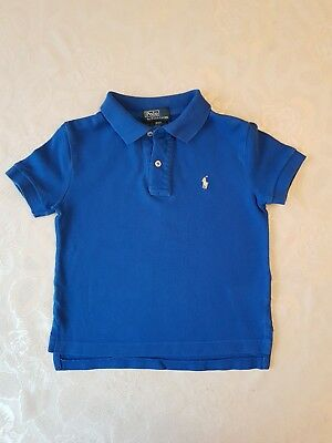 Ralph Lauren Polo Tshirt Blue With Pony Logo Short Sleeve Age 3 Years