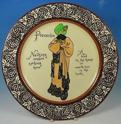 Royal Doulton Vintage Proverbs Nothing Venture Nothing Have Rack Plate D3391
