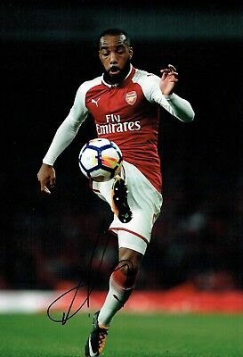 Alexandre LACAZETTE Arsenal Football SIGNED Autograph 12x8 Photo COA AFTAL