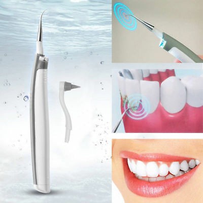 Electric Sonic Pic Tooth Beauty Cleaner Plaque Remover Vibrating Teeth Tool UK