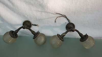 Vtg Pre-War Pair of Double Stern Light-Lamp w 4 Beehive Globes *Chris Craft Boat
