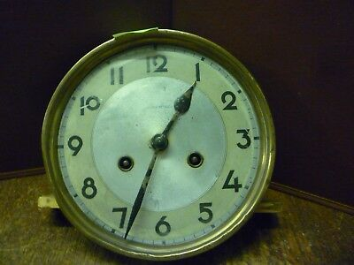 Original Art Deco Striking Wall Clock Spring Driven Movement+Dial (5)