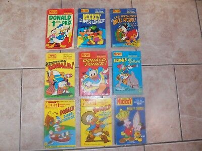 Lot de 9 anciens journal de Mickey Bis ( 723, 786, 856, 1111, 1234, 1284, ...)