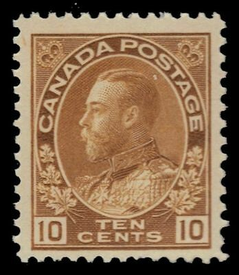 "CANADA 118b - King George V ""Admiral"" Yellow Brown 1925 Dry (pa4716) $70"