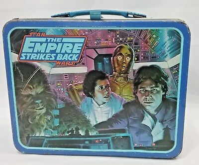 Vintage Star Wars-The Empire Strikes Back 1980 Metal Lunchbox No Thermos